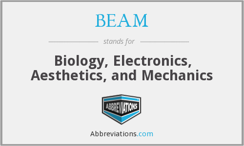 BEAM - Biology, Electronics, Aesthetics, and Mechanics