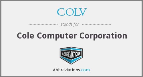 What does COLV stand for?