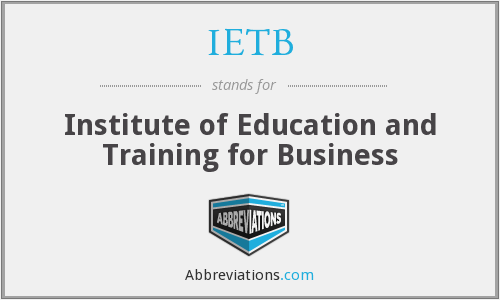 What does IETB stand for?