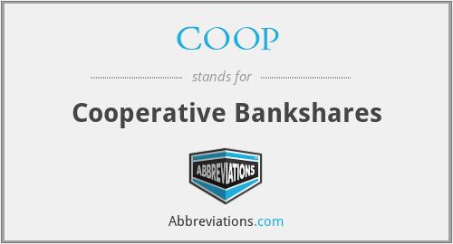 COOP - Cooperative Bankshares