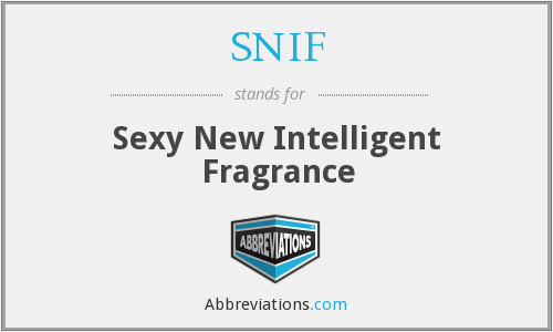 SNIF - Sexy New Intelligent Fragrance