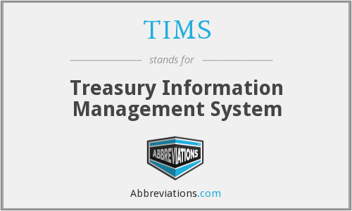 TIMS - Treasury Information Management System
