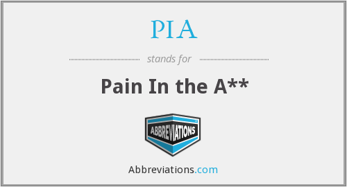 PIA - Pain In the A**