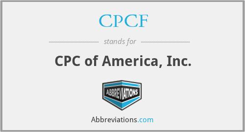 CPCF - CPC of America, Inc.