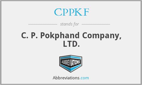CPPKF - C. P. Pokphand Company, LTD.
