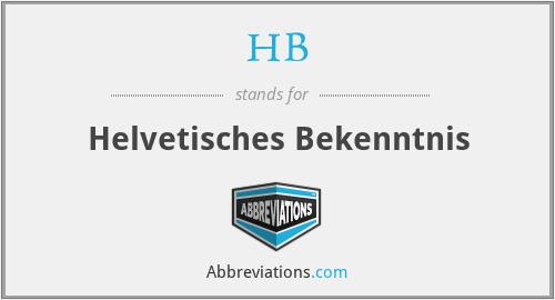 HB - Helvetisches Bekenntnis