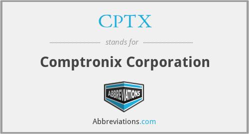 CPTX - Comptronix Corporation