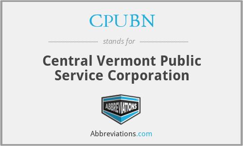 CPUBN - Central Vermont Public Service Corporation
