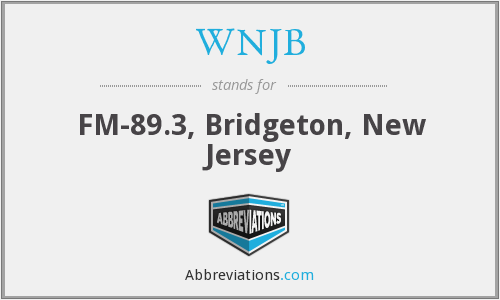 What does WNJB stand for?