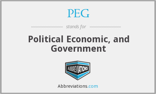 PEG - Political Economic, and Government