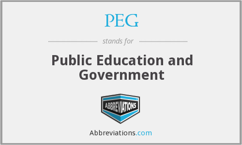 PEG - Public Education and Government