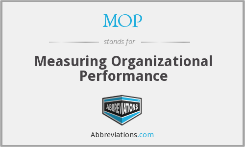 MOP - Measuring Organizational Performance