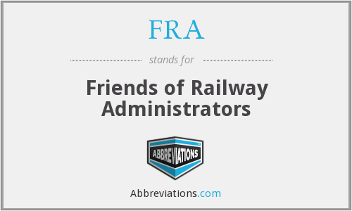 FRA - Friends of Railway Administrators