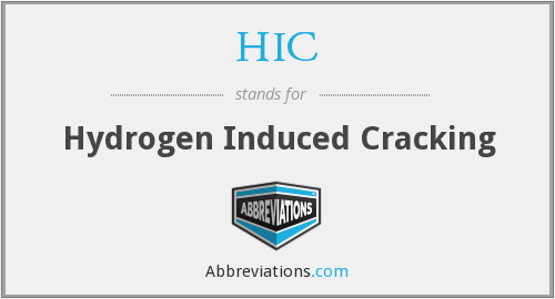 HIC - Hydrogen Induced Cracking