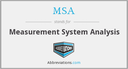 MSA - Measurement System Analysis