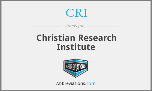 CRI - Christian Research Institute