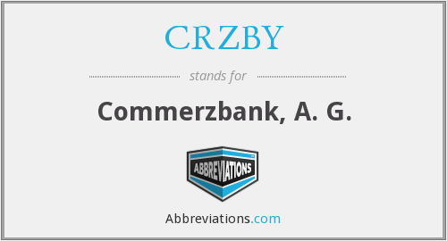 CRZBY - Commerzbank, A. G.