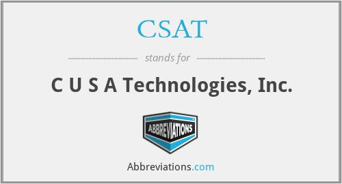 CSAT - C U S A Technologies, Inc.