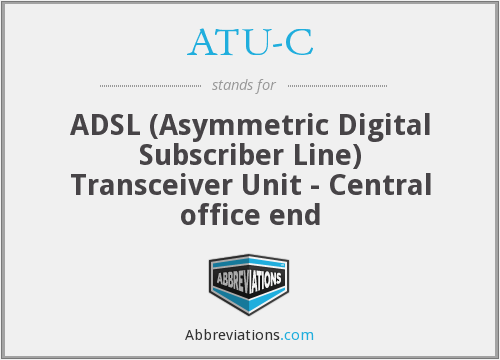What does ATU-C stand for?