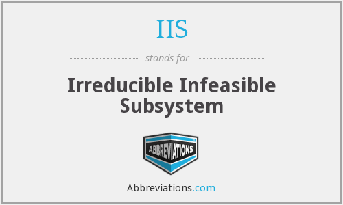 IIS - Irreducible Infeasible Subsystem