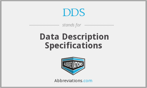 DDS - Data Description Specifications
