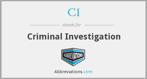 CI - Criminal Investigation