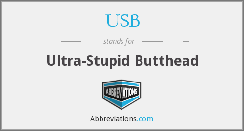 USB - Ultra-Stupid Butthead