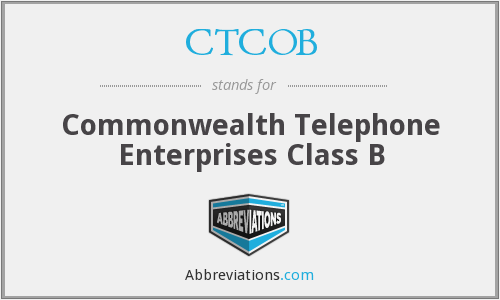 What does CTCOB stand for?