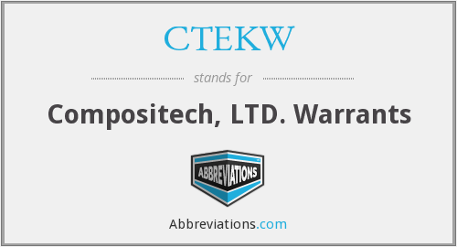 What does CTEKW stand for?