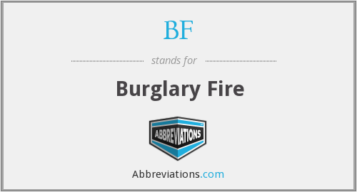 What does burglary stand for?