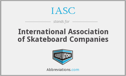 IASC - International Association of Skateboard Companies