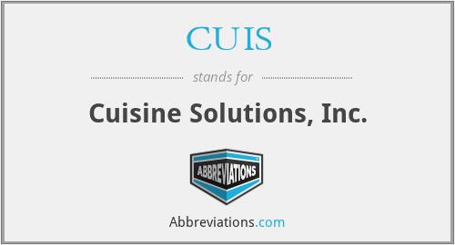 CUIS - Cuisine Solutions, Inc.