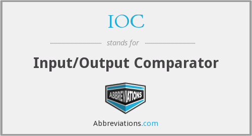 IOC - Input/Output Comparator