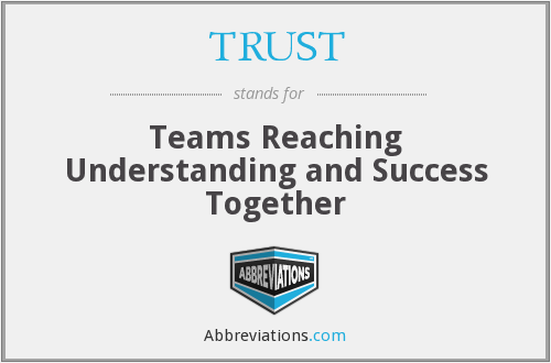 TRUST - Teams Reaching Understanding and Success Together