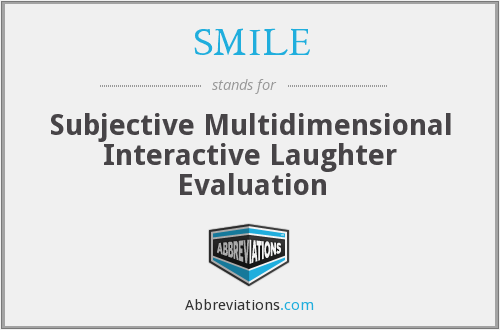 SMILE - Subjective Multidimensional Interactive Laughter Evaluation