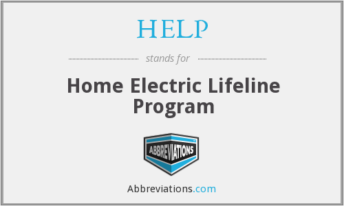 HELP - Home Electric Lifeline Program