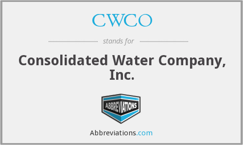 CWCO - Consolidated Water Company, Inc.