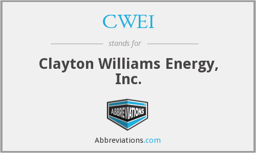 CWEI - Clayton Williams Energy, Inc.
