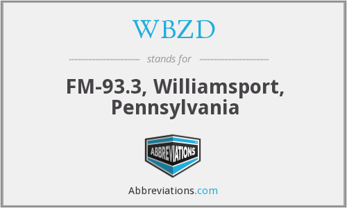 What does WBZD stand for?