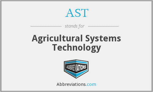 AST - Agricultural Systems Technology