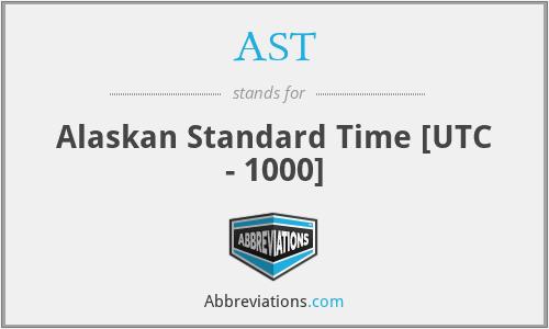 AST - Alaskan Standard Time [UTC - 1000]