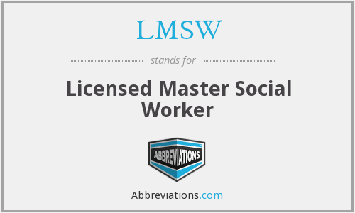 What does LMSW stand for?