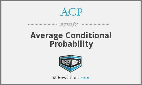 ACP - Average Conditional Probability