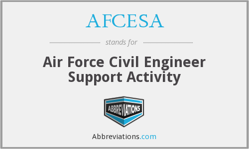 AFCESA - Air Force Civil Engineer Support Activity