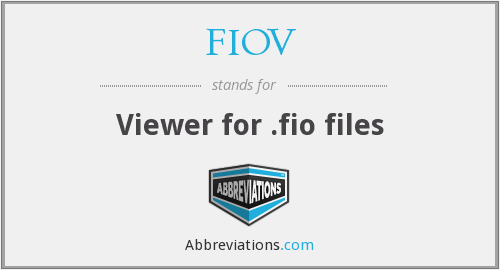What does FIOV stand for?