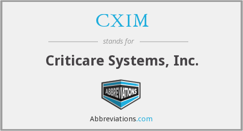 CXIM - Criticare Systems, Inc.