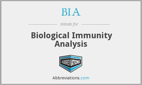 BIA - Biological Immunity Analysis