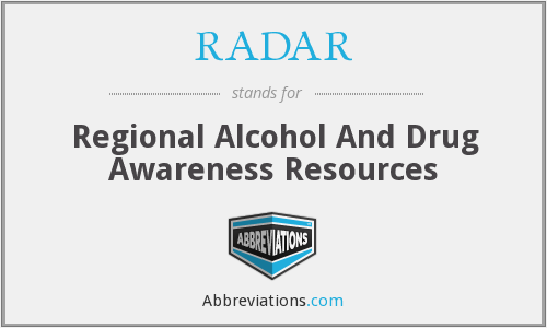 RADAR - Regional Alcohol And Drug Awareness Resources