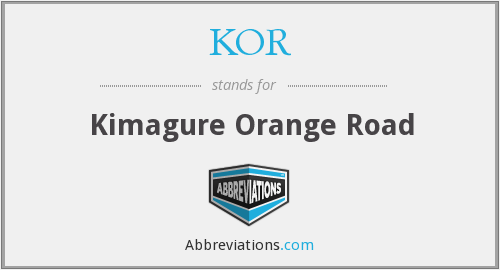 KOR - Kimagure Orange Road