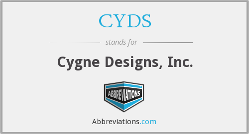CYDS - Cygne Designs, Inc.